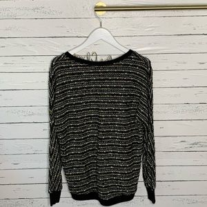 Sanctuary Sweaters - Sanctuary Marled Knit Metallic V-neck Sweater